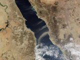 Dust Plumes Blow Off the Coast of Saudi Arabia and over the Red Sea, Photographic Print