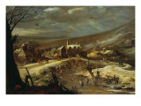 Landscape with Skaters Giclee Print by Joos de Momper