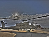 Seven Exposure HDR Image of a Stationary AH-64D Apache Helicopter Photographic Print by  Stocktrek Images