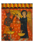 Altarpiece with Angel and Devil Giclee Print by  Master of Soriguerola
