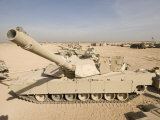 M1 Abrams Tank at Camp Warhorse Photographic Print by  Stocktrek Images