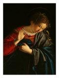Annunciation (Detail) Giclée-tryk af Orazio Gentileschi