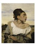 Jeune orpheline au cimeti Giclee Print by Eugene Delacroix