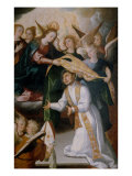 The Virgin Giving the Chasuble to St. Ildefonsus Giclee Print by Luis Juarez