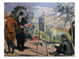 The Visit to Cezanne Giclee Print by Maurice Denis
