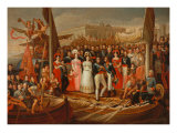 The Embarkation of Ferdinand VII from St. Mary Harbour, 1823 Giclee Print by Jose Aparicio
