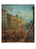 The Arrival of the Army from Africa at Puerta Del Sol Reproduction proc&#233;d&#233; gicl&#233;e par Atienza 