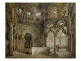 Interior of the Mosque of Cordoba Giclee Print by Thienon Louis Desire