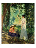 Two Women in a Landscape Giclee Print by Louis Anquetin