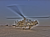 Seven Exposure HDR Image of an AH-64D Apache Helicopter Photographic Print by Stocktrek Images