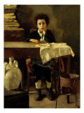 The Little Schoolboy Giclee Print by Antonio Mancini