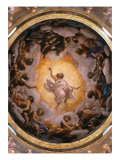 Vision of Saint John the Evangelist (detail) Giclee Print by Correggio
