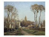 Entering the Voisins Village, 1872 Giclee Print by Camille Pissarro