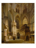 Interior of the Abbey of Westminster, 1853 Giclee Print by Giovanni And Bertini, Giuseppe Brocca
