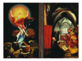 Isenheim Altar, Resurrection and Annunciation Giclee Print by Matthias Gruenewald