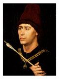Portrait of Antoine De Bourgogne Giclee Print by Rogier van der Weyden