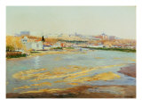 View of Manzanares Giclee Print by Aureliano De Beruete