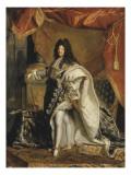 Louis XIV âgé de 63 ans en grand costume royal Giclee Print by Hyacinthe Rigaud