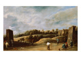 The Trio of the Crossbow Giclee Print by David Teniers the Younger