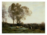 Pastoral Giclee Print by Jean-Baptiste-Camille Corot
