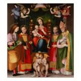 Madonna and Child with Saints Giclee Print by Leonardo Da Pistoia