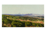 View of Sierra De Guadarrama Giclee Print by Aureliano De Beruete