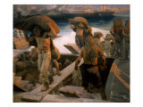 Men Unloading at Harbor, 1904 Giclee Print by Paul Sieffert