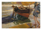 The Returned of the Fishing Giclee Print by Joaqu&#237;n Sorolla y Bastida