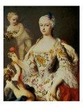 Infanta Maria Antonia Ferdinanda Giclée-tryk af Jacopo Amigoni