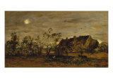 Evening at Honfleur Giclee Print by Charles-Francois Daubigny