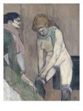 Femme tirant son bas ou Femme de maison Lámina giclée por Henri de Toulouse-Lautrec