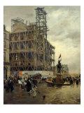 Place Des Pyramides Giclee Print by Giuseppe De Nittis