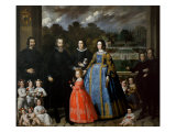 The Imperiale Family Lmina gicle por Domenico Fiasella