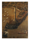 View of Genoa in 1481 (detail) Giclee Print by Cristoforo Grassi