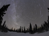 Star Trails and Milky Way Photographic Print by Stocktrek Images 