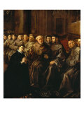 Saint Bonaventure Receiving the Habit from Saint Francis Giclee Print by Francisco Herrera