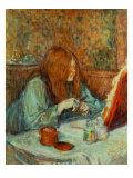 At the Dressing Table Lámina giclée por Henri de Toulouse-Lautrec