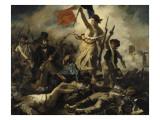 Eugene Delacroix - Le 28 juillet 1830 : la Liberté guidant le peuple - Giclee Baskı