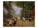 The Chalet of the Bicycle at Bois De Boulogne Giclee Print by Jean Béraud