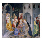 Scenes from the Life of Saint John the Baptist, Mary Taking Leave of Elizabeth and Zacharias Giclee Print by Lorenzo &amp; Jacopo Salimbeni