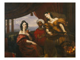 Portrait of Countesses M. Potozkaya and Schuvalova with an Ethiopian Giclee Print by Orest Adamovich Kiprensky