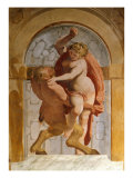 Diana and Satyr Giclee Print by Luca Cambiaso
