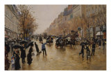 View of Boulevards Giclee Print by Jean Béraud