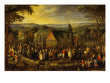 Mariage in the Countryside Giclee Print by Jan Brueghel the Elder