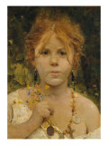 Girl from Abruzzo Giclee Print by Francesco Paolo Michetti