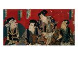 The Four Actors of the Kabuki's Theater Giclee Print by Kuniyoshi Utagawa