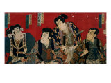 The Four Actors of the Kabuki&#39;s Theater Giclee Print by Utagawa Kuniyoshi