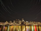 Star Trails Above Downtown Vancouver, British Columbia, Canada Photographic Print by  Stocktrek Images