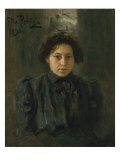 Portrait of the Artist's Daughter N. Repina Giclee Print by Ilya Efimovich Repin
