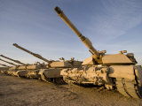 M1 Abrams Tanks at Camp Warhorse Photographic Print by  Stocktrek Images